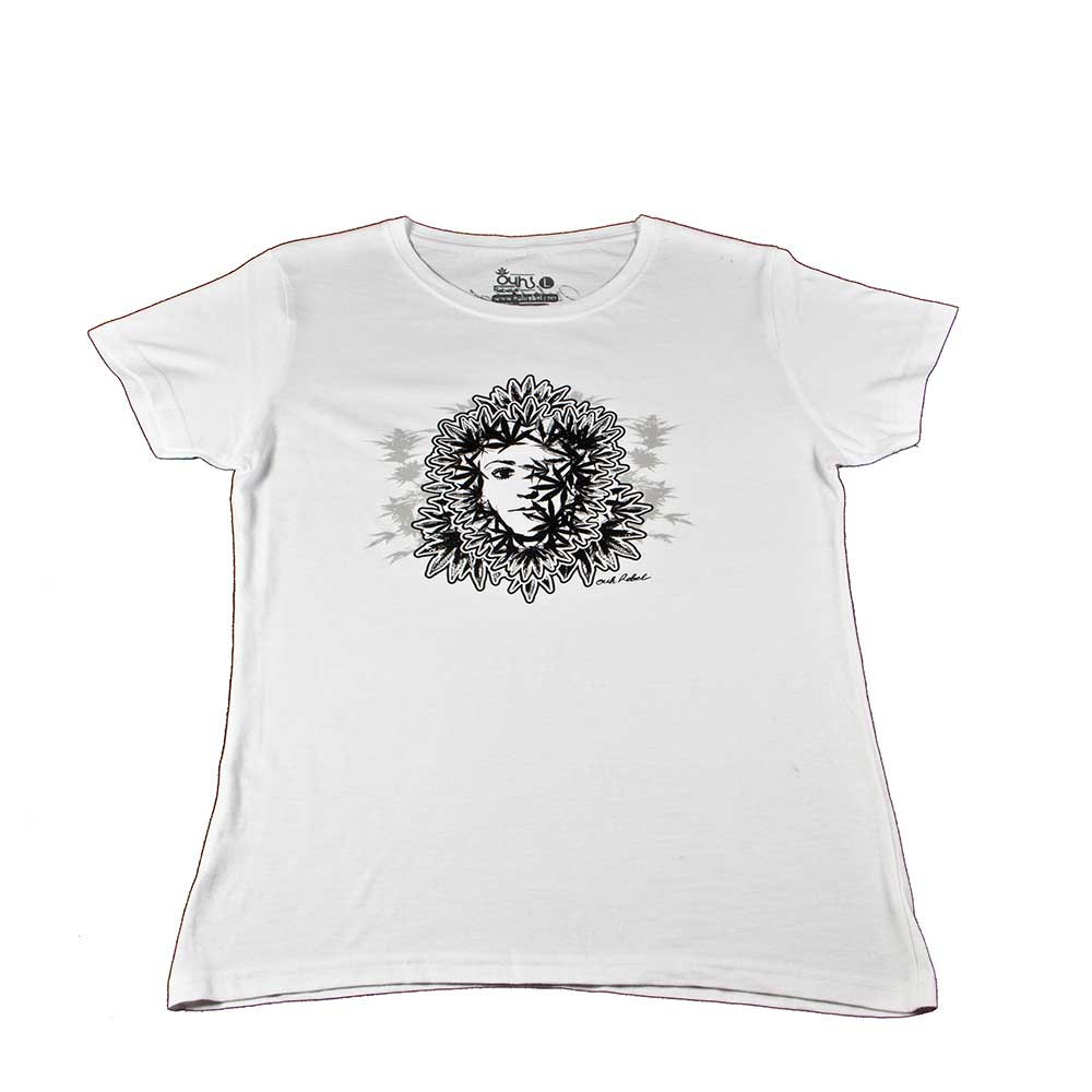 Camiseta Chica manga corta Ouh Rebel Weed 2 colores